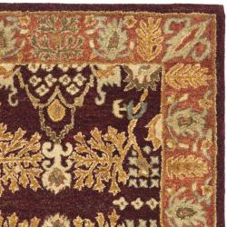 Safavieh Handmade Tree of Life Dark Red/ Rust Hand-spun Wool Rug (3' x 5') - Thumbnail 1