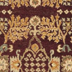 Safavieh Handmade Tree of Life Dark Red/ Rust Hand-spun Wool Rug (3' x 5') - Thumbnail 2