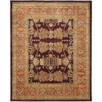 Safavieh Handmade Tree Dark Red/ Rust Hand-spun Wool Rug - 8' x 10'