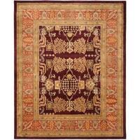 Safavieh Handmade Tree Dark Red/ Rust Hand-spun Wool Rug - 8' x 10'