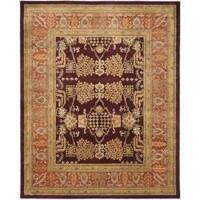 Safavieh Handmade Tree Dark Red/ Rust Hand-spun Wool Rug (9' x 12')