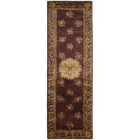 "Safavieh Handmade Aubusson Roinville Red Wool Rug - 2'6"" x 8'"