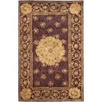 Safavieh Handmade French Aubusson Roinville Red Premium Wool Rug - 4' x 6'