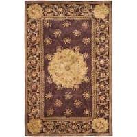 Safavieh Handmade French Aubusson Roinville Red Premium Wool Rug (4' x 6')