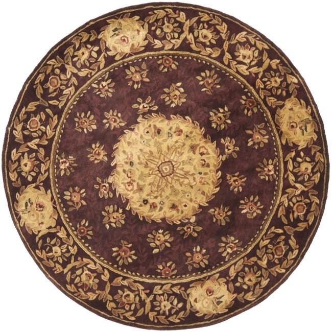 Safavieh Handmade Aubusson Roinville Red Wool Rug (6' Rou...