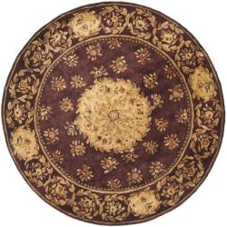 Safavieh Handmade Aubusson Roinville Red Wool Rug (6' Round)