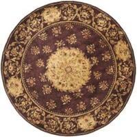 Safavieh Handmade Aubusson Roinville Red Wool Rug - 6' x 6' Round