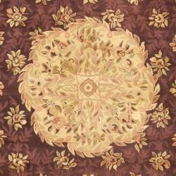 Safavieh Handmade Aubusson Roinville Red Wool Rug (10' x 14')