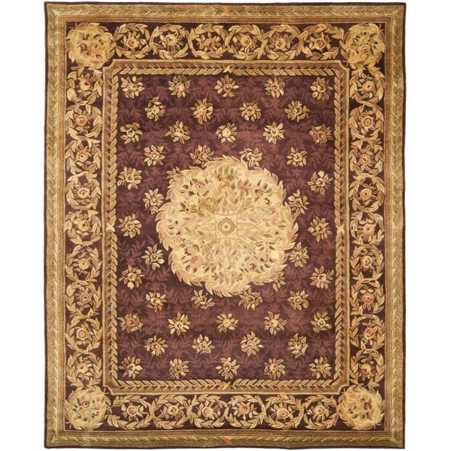Safavieh Handmade French Aubusson Roinville Red Premium Wool Rug (6' x 9')