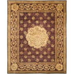 Safavieh Handmade Aubusson Roinville Red Wool Rug (9' x 12')
