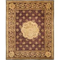 Safavieh Handmade Aubusson Roinville Red Wool Rug - Multi - 9' x 12'