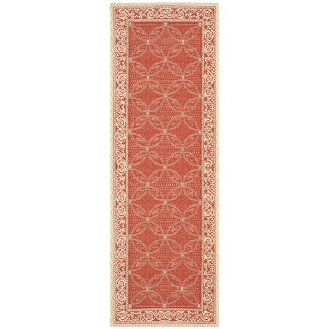 Safavieh Bay Red/ Natural Indoor/ Outdoor Rug (2'4 x 6'7)