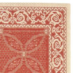 Safavieh Bay Red/ Natural Indoor/ Outdoor Rug (2'4 x 6'7) - Thumbnail 1