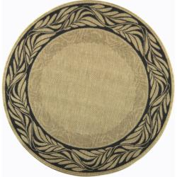 Safavieh Tranquil Natural/ Terracotta Indoor/ Outdoor Rug (6'7 Round)