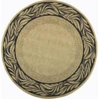 "Safavieh Tranquil Natural/ Terracotta Indoor/ Outdoor Rug - 6'7"" x 6'7"" round"