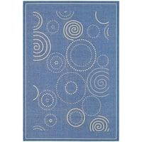 Safavieh Ocean Swirls Blue/ Natural Indoor/ Outdoor Rug - 9' x 12'