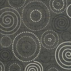 Safavieh Ocean Swirls Black/ Sand Indoor/ Outdoor Rug (9' x 12') - Thumbnail 2
