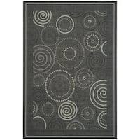 Safavieh Ocean Swirls Black/ Sand Indoor/ Outdoor Rug - 9' x 12'