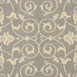 Safavieh Resorts Scrollwork Grey/ Natural Indoor/ Outdoor Rug (7'10 Square) - Thumbnail 2