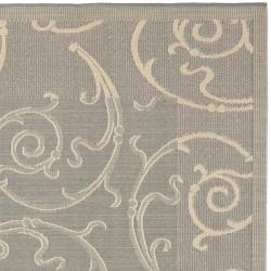 Safavieh Courtyard Poolside Gray/ Natural Indoor/ Outdoor Area Rug (7'10 Square)