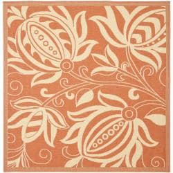 Safavieh Andros Terracotta/ Natural Indoor/ Outdoor Rug (6'7 Square)