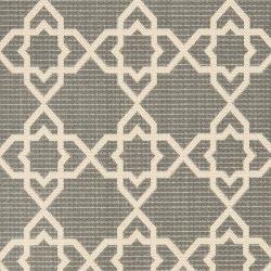Safavieh Courtyard Geometric Trellis Grey/ Beige Indoor/ Outdoor Rug (2'4 x 9'11) - Thumbnail 2