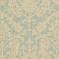 Safavieh Courtyard Damask Aqua/ Cream Indoor/ Outdoor Rug (6'7 x 9'6) - Thumbnail 2