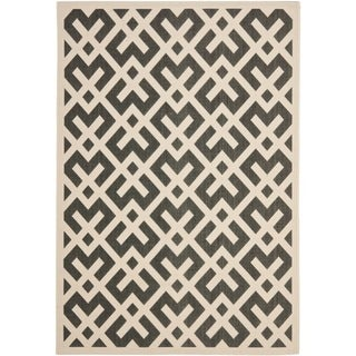 Safavieh Courtyard Contemporary Black/ Bone Indoor/ Outdoor Rug (2'7 x 5')