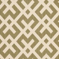 Safavieh Courtyard Contemporary Green/ Bone Indoor/ Outdoor Rug (9' x 12') - Thumbnail 2