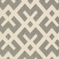 Safavieh Courtyard Contemporary Grey/ Bone Indoor/ Outdoor Rug (2'4 x 6'7) - Thumbnail 2