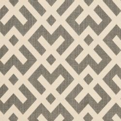 Safavieh Courtyard Contemporary Grey/ Bone Indoor/ Outdoor Rug (2'7 x 5')