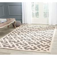 Safavieh Courtyard Contemporary Grey/ Bone Indoor/ Outdoor Rug - 8' x 11'2