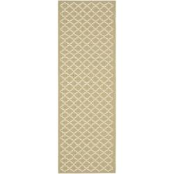 "Safavieh Poolside Green/Beige Indoor Outdoor Polypropylene Rug (2'4"" x 6'7"")"