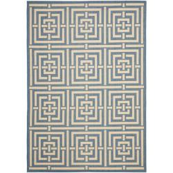 Safavieh Poolside Blue/ Bone Indoor Outdoor Rug (4' x 5'7)