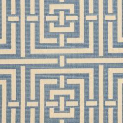 Safavieh Poolside Blue/ Bone Indoor Outdoor Rug (8' x 11'2) - Thumbnail 2