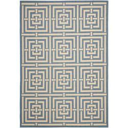 Safavieh Poolside Blue/ Bone Indoor Outdoor Rug (8' x 11'2)