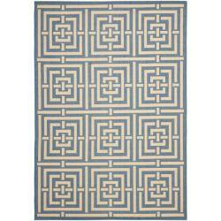 Safavieh Poolside Blue/ Bone Indoor Outdoor Rug (9' x 12')|https://ak1.ostkcdn.com/images/products/6551566/79/58/Poolside-Blue-Bone-Indoor-Outdoor-Rug-9-x-12-P14131615.jpg?impolicy=medium