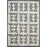 Safavieh Poolside Blue/ Bone Indoor Outdoor Rug - 9' x 12'