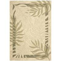 Safavieh Poolside Cream/Green Indoor/Outdoor Area Rug - 6'7' x 9'6'