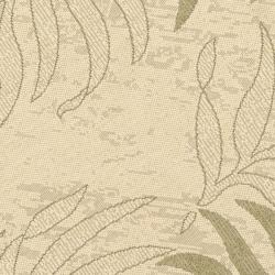 Safavieh Poolside Cream/ Green Indoor Outdoor Rug (6'7 Round) - Thumbnail 2