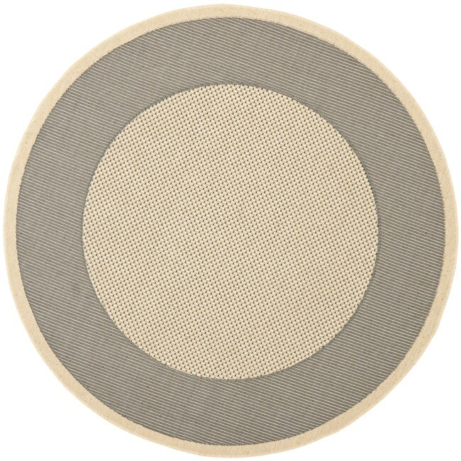 Safavieh Poolside Gray/Cream Circular Indoor/Outdoor Rug ...
