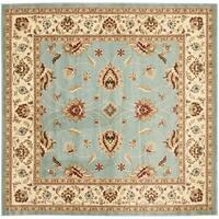 "Safavieh Lyndhurst Traditional Oriental Blue/ Ivory Rug - 6'7"" x 6'7"" square"