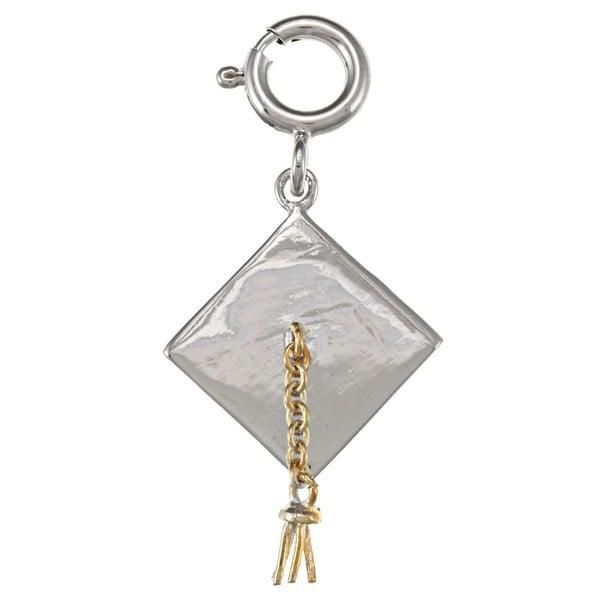La Preciosa Goldplated Sterling Silver Tassel Graduation Hat Charm