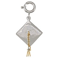 La Preciosa Goldplated Sterling Silver Tassel Graduation Hat Charm