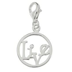La Preciosa Sterling Silver 'Live' Open Circle Charm