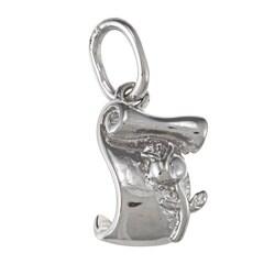 La Preciosa Sterling Silver Scroll and Rose Charm