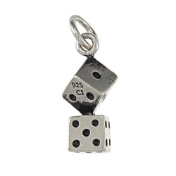 La Preciosa Sterling Silver Pair of Dice Charm