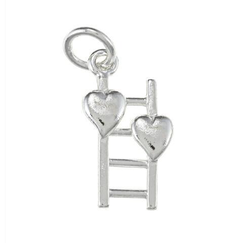 La Preciosa Sterling Silver Ladder and Two Heart Charm