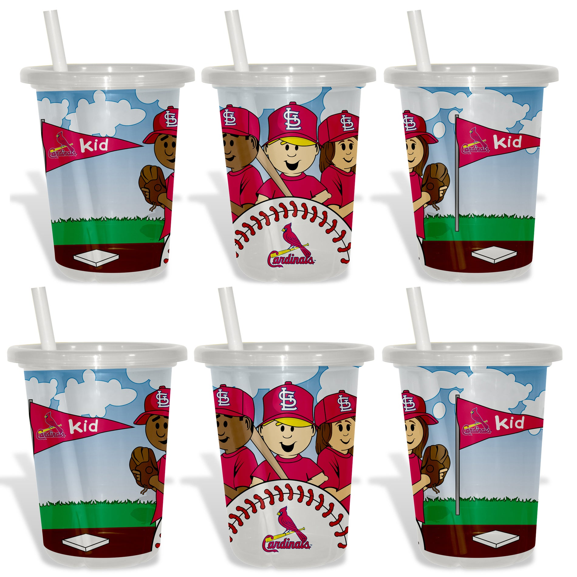 St. Louis Cardinals Sip and Go Cups (Pack of 6)