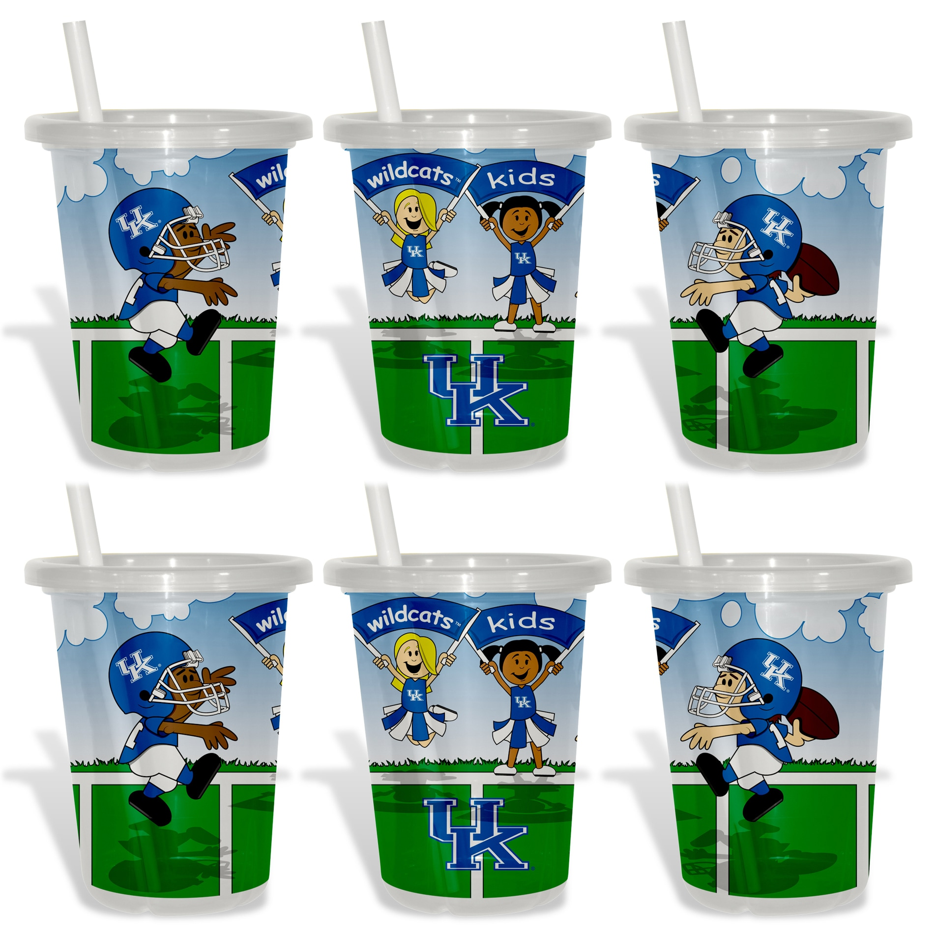 Kentucky Wildcats Sip and Go Cups (Pack of 6)